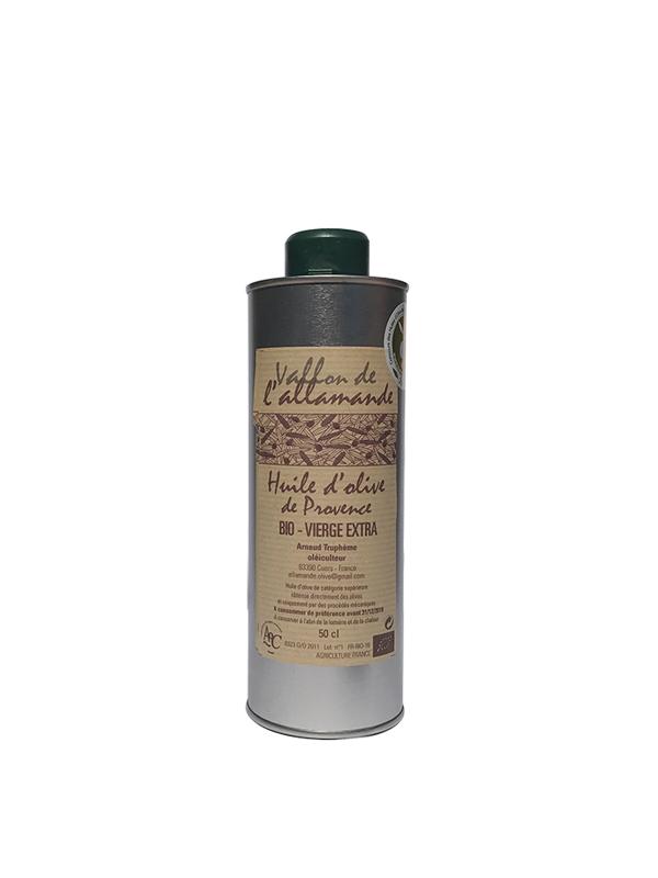 Huile olive extra vierge aoc provence bio france 50 cl for Huile d olive salon de provence