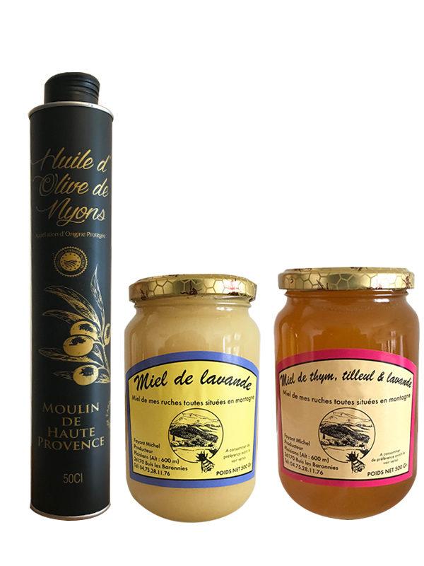 coffret-huile-olive-miel-lavande-france