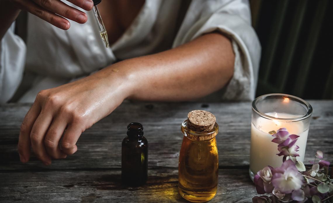 l'huile d'olive pour hydrater une peau sensible