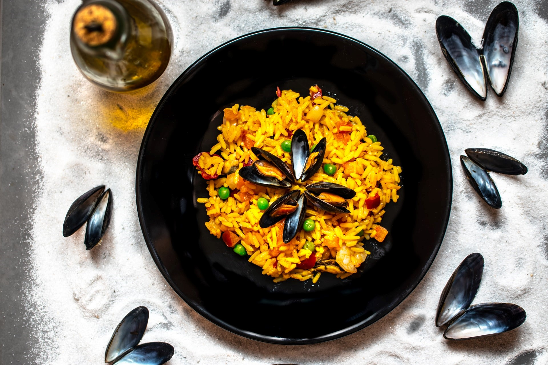 recette paella traditionnelle huile d'olive