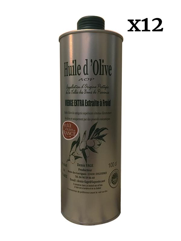 Huile d'olive Vierge Extra AOP de la Vallée des Baux de Provence fruité vert