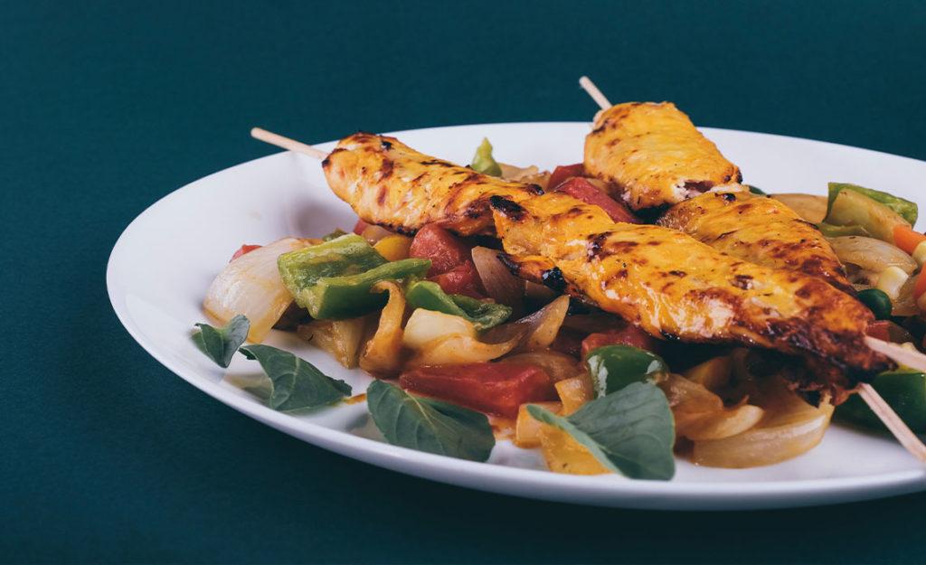 recette de brochettes de poulet marinées à l'huile d'olive