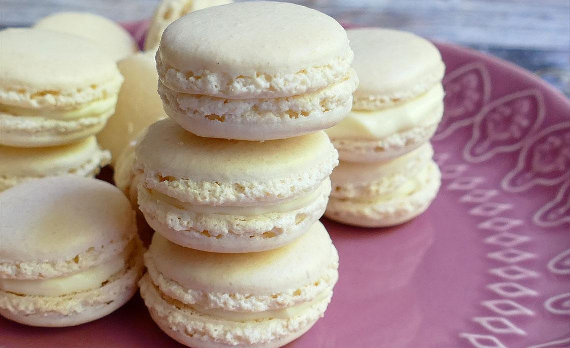 recette macarons huile d'olive et vanille