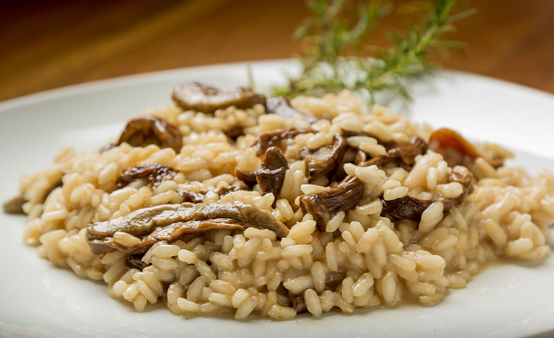 Recette e risotto aux champignons